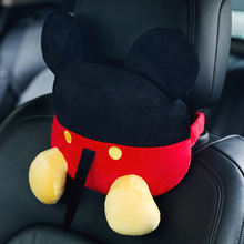 Pillow Car-Headrest Cartoon-Seat Creative Car-Interior-Decoration-Supplies Plush Cute