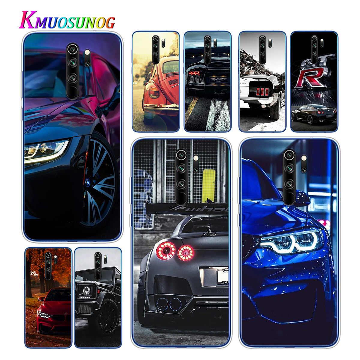 透明ソフトtpuカバースポーツカー男性xiaomi redmi注 9 9s pro最大 8t 8 7 6 5 プロ 5A 4X電話ケース