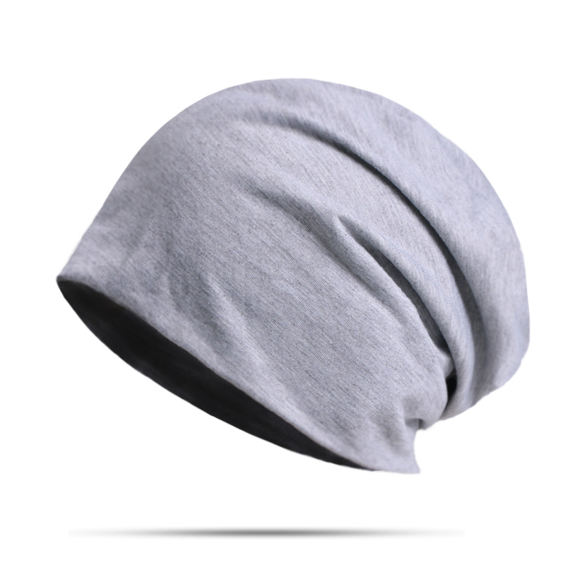 New Spring And Autumn Beanies Hats Men's Winter Solid Color Hedging Cap Outdoor Sports Thin Windproof Soft Fashion Beanie Hat