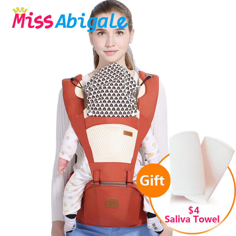 MissAbigale Ergonomic Baby Carrier Infant Baby Hipseat Waist Carrier Front Facing Backpack Kangaroo Sling Newborn for Baby Backpacks & Carriers    - AliExpress