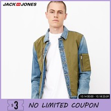Jack Jones Mannen Stiksels Kleur Herfst Denim Jas Jas | 218357510(China)