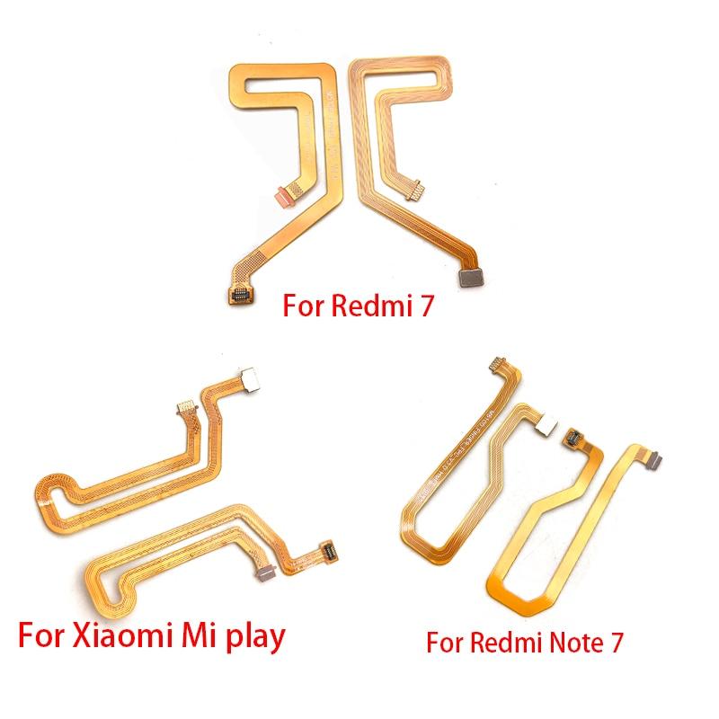 Fingerprint Home Button Connection Flex Cable Ribbon For Xiaomi Redmi 7 / Redmi Note 7 / Mi Play