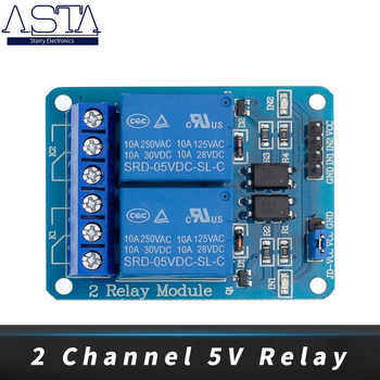 20pcs 2-channel New 2 channel relay module expansion board 5V low level triggered 2-way