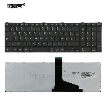 Francuski klawiatura dla TOSHIBA SATELLITE C850 C855D C850D C855 C870 C870D C875 C875D L875 L875D czarny/biały FR AZERTY klawiatura