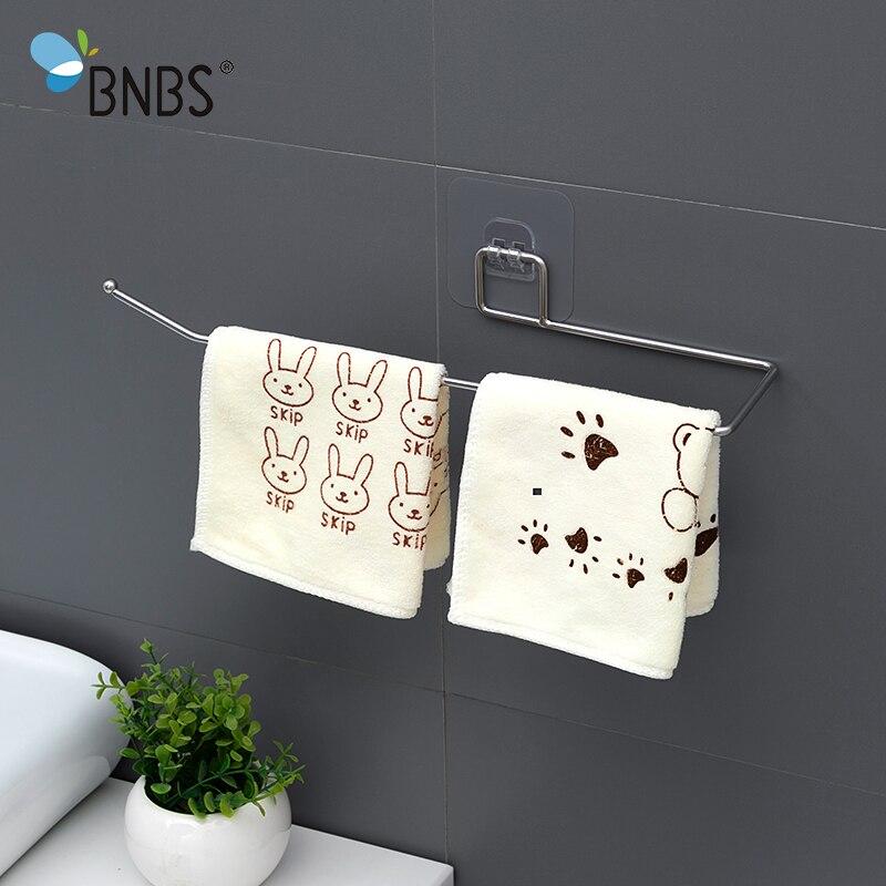Bathroom Towel Holder Rack Rail Hanger Shelves For Bathroom Products Accessories Stainless Steel Kitchen Holder For Towels Shelf