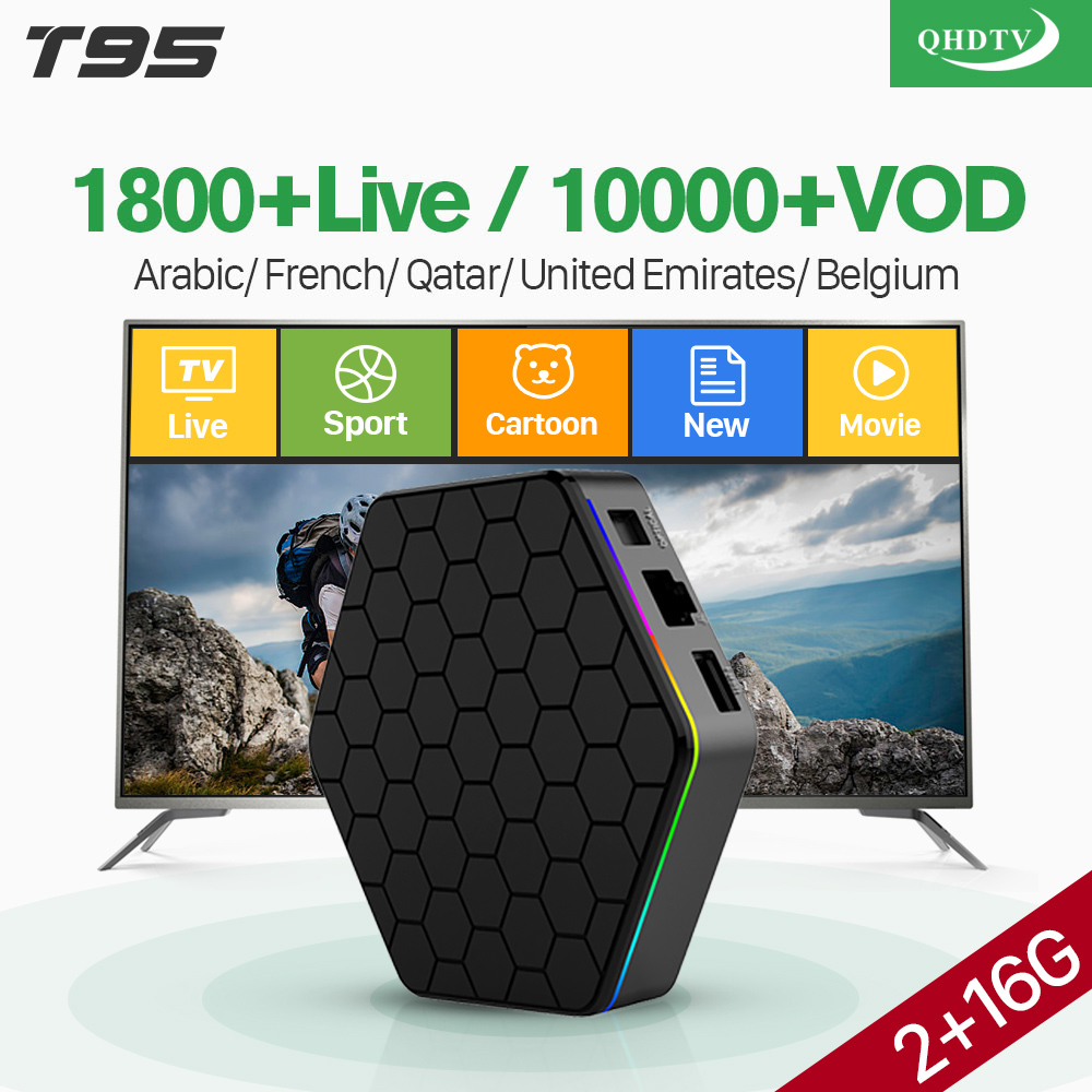 IPTV France Arabic 4K T95Z Plus Android 7.1 Smart TV Box S912 Octa Core 1 Year QHDTV Code IPTV French Spain Netherlands IPTV Box