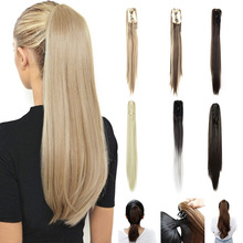 Extension Claw Straight-Hair Clip-On Long-Ponytail Women for Jaw 22