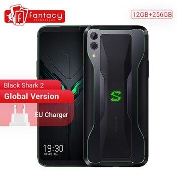 """Version mondiale Xiaomi requin noir 2 12GB 256GB jeu téléphone Snapdragon 855 Octa Core 6.39 """"AMOLED écran téléphone portable 48MP caméra"""