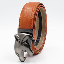 New Leopard Buckle Fashion Belts Genuine Leather Luxury Designer Men Famous Brand Jeasn Belt Automatic Waist Strap