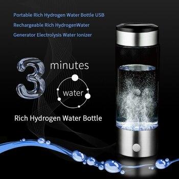 Filtre à Eau En Acier Inoxydable | Générateur D'eau Hydrogène 420Ml Tasse Corps Alcalin Ioniseur D'eau Bouteille Hydrogène Riche En Eau Filtre Aquarium