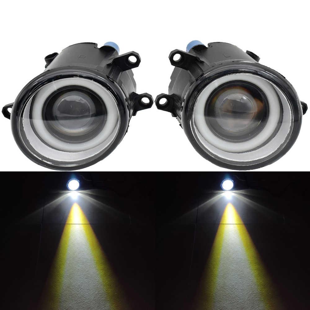 2PCS For TOYOTA Venza Sienna Venza for Prius C Prius V matrix Avalon 07-14 LED Fog Light Angel Eye with lens Fog Lamp Assembly