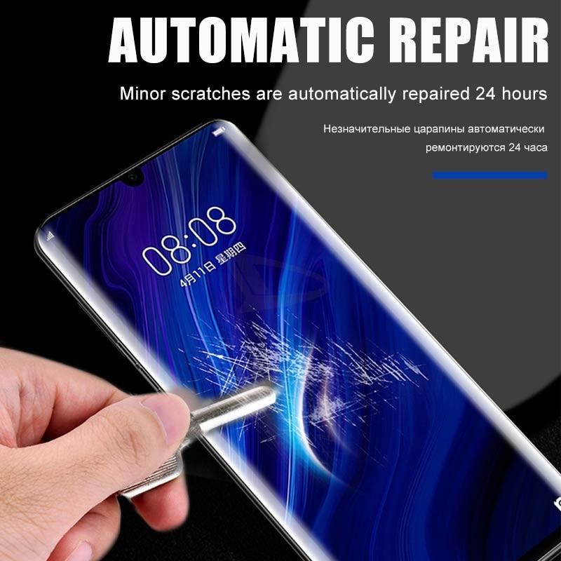 3Pcs Protective Hydrogel Film For Huawei P40 Lite P20 P30 Pro Mate 20 Lite P smart 2019 Nova 5T Screen Protector Film Not Glass 4