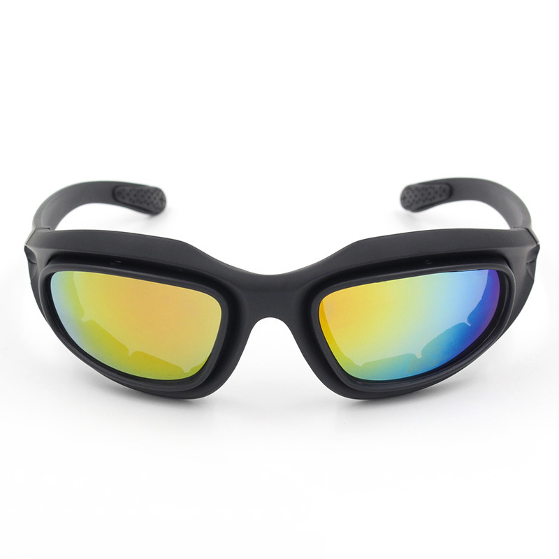 Four Lens Outdoor Cycling Glasses CS Tactical Goggles For Motorcycle/C5 Polarized Light Set