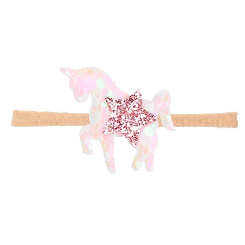 1 PCS Lytwtw של תינוק PU Bowknot Unicorn סרט ילדה גומייה לשיער תינוקות הראש אלסטי יילוד פעוטות שיער אביזרי בגדים