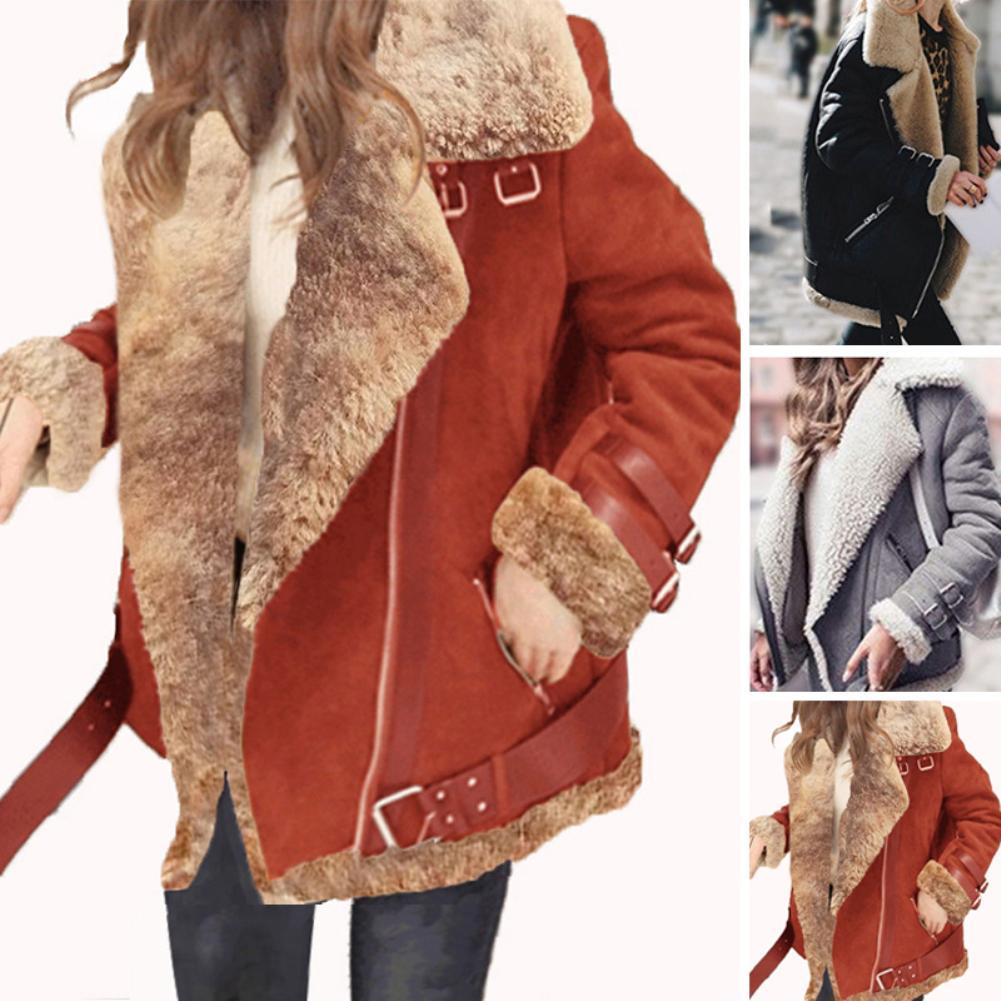 Winter Fur Coat Women Slim Cotton Warm Thick Faux Fur Coat Women Casual Suede Lamb Futro Woman Parka Outerwear Teddy Coats шуба