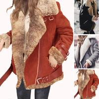 Winter Fur Coat Women Slim Cotton Warm Thick Faux Fur Coat Women Casual Suede Lamb futro Woman Parka Outerwear Teddy Coats шуба