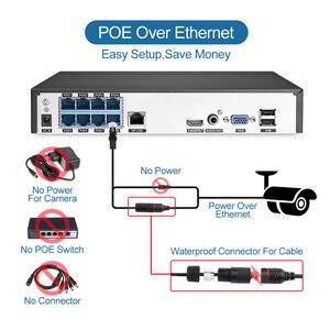 Image 2 - Techage 8CH 1080 1080P POE NVR キットセキュリティカメラシステム H.265 双方向オーディオ愛 IP カメラ屋内屋外 CCTV ビデオ監視セット