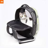 Xiaomi Mijia PETKIT Cat Bag Dog Packpack Carrier Ventilation Large Field Of Vision Automatic Zipper Outgoing Packpack For Pet