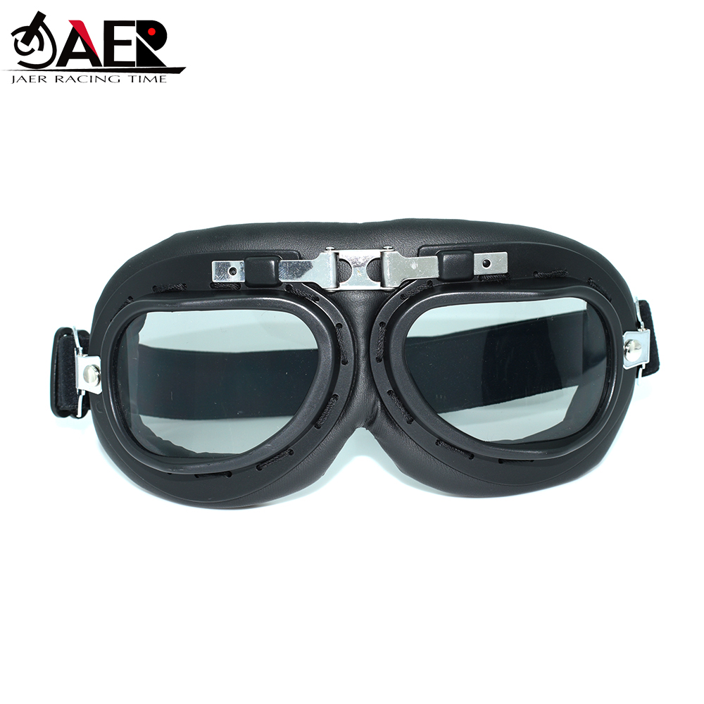 JAER Motorcycle Goggles Glasses Helmet Pilot Scooter Retro Moto Outdoor Dirt Bike Riding Sunglasses Retro Vintage Off-Road Gafas