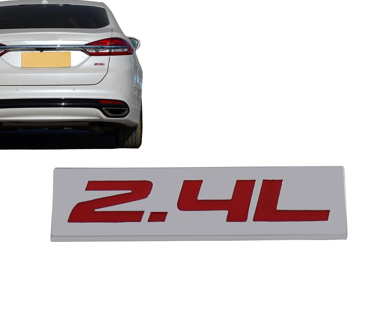 Хром Красный 2.4L 2,4 л для двигателя, крыла крышка багажника эмблема наклейка значок стикер