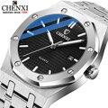 CHENXI Luxus Marke Männer Business Uhren Edelstahl Wasserdicht Leucht Armbanduhr Neue Quarz Männer Uhr Relogio Masculino