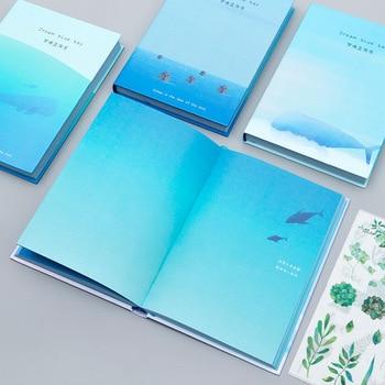 цена Creative trend Color Pages A5 Notebook Little Blue Bay Diary Book Hardcover diary Korea Stationery School Supplies онлайн в 2017 году