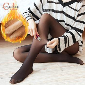 CHRLEISURE-pantis de invierno para mujer, medias ajustadas gruesas de terciopelo, a la moda, informales