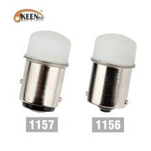 OKEEN 2шт 3014SMD CanBus 1156 BA15S P21W 1157 P21-5W BAY15D светодиодный светильник, автомобильные лампы, светодиодный тормозной светильник, лампа заднего хода, сиг...