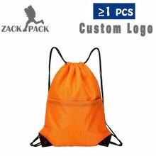 4pcs Drawstring Bag Training Canvas Backpack Custom Logo Cheap School Sports Waterproof Storage