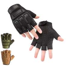 Tactical Half Finger Gloves Outdoor Sport Camouflage Anti-Slip Fingerless Glove for Fishing Hunting Camping Cycling