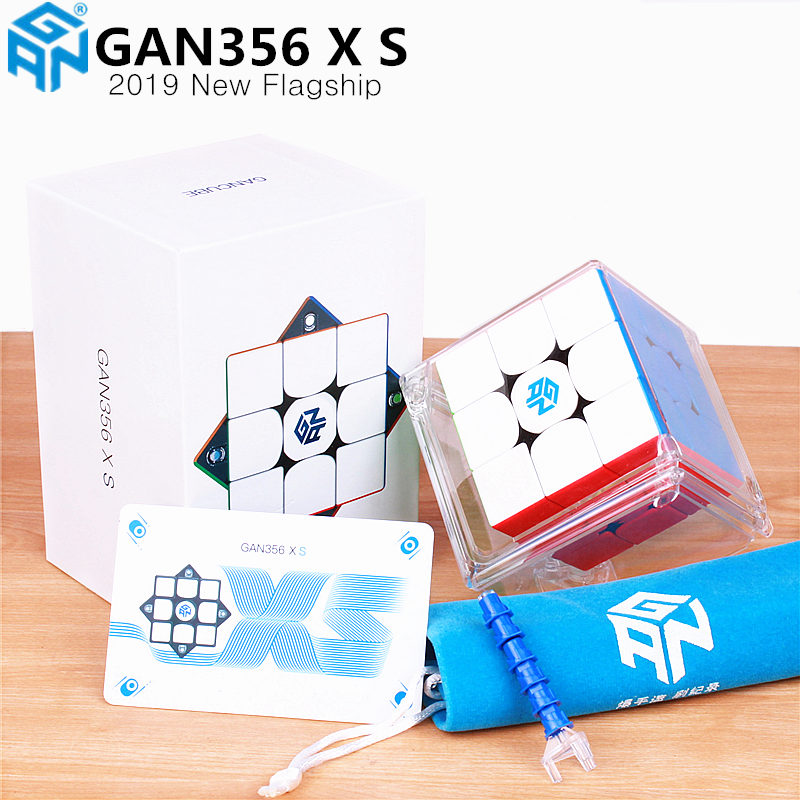 New GAN356X S Magnetic 3x3x3 Magic Speed Cube Stickerless Professional GAN356 X S Magnets Puzzle Cubes For Competition GAN356 XS