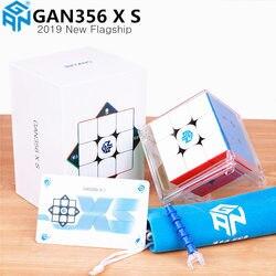 Nuevo GAN356X S magnético 3x3x3 Cubo de velocidad mágica sin adhesivo profesional GAN356 X S imanes cubos de rompecabezas para la competencia GAN356 XS