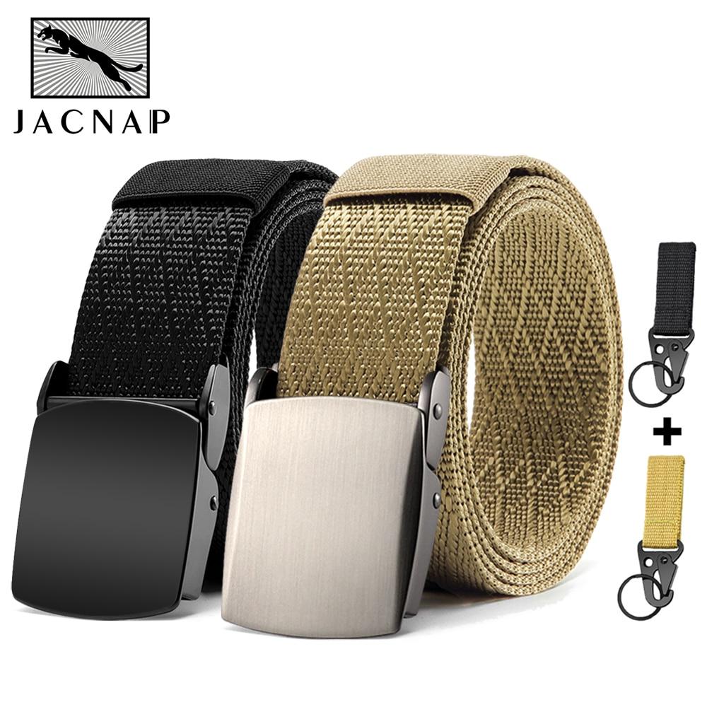 JACNAIP Military Tactical Mens Belt Black Outdoor Training Combat Nylon Army Metal Buckle Belts For Men 125cm Тактический пояс 1