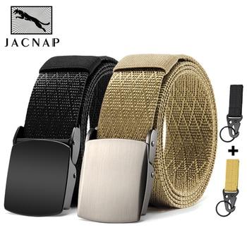 JACNAIP Military Tactical Mens Belt Black Outdoor Training Combat Nylon Army Metal Buckle Belts For Men 125cm Тактический пояс