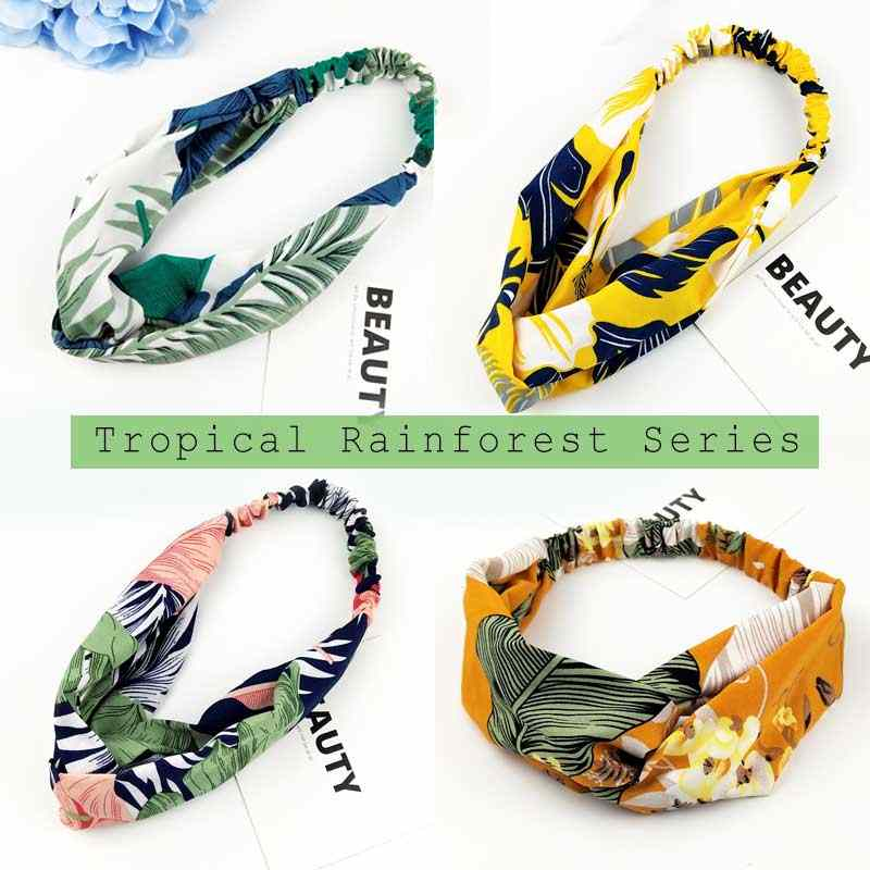 Lady Chiffon headband Wholesale hair accessories high quality hair scrunchie tuban accessories for women girls hairdress  C01