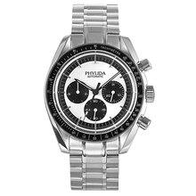 Cadran Panda blanc de 40mm, mouvement automatique, jour/Date, montre mécanique