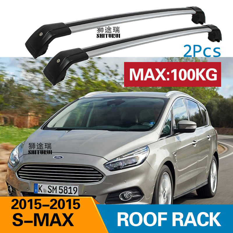 2pcs Roof Bars For Ford S Max 2015 2020 Aluminum Alloy Side Bars