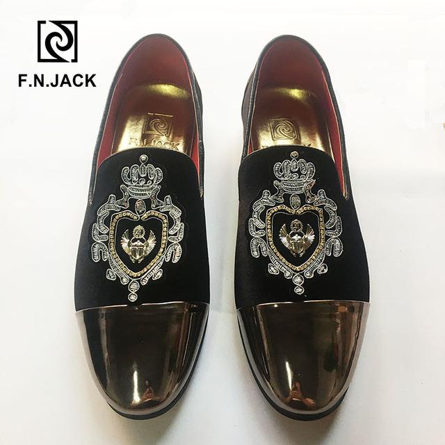 F.N.JACK Classic Black Velvet Men's Shoes Casual Rubber Man Loafers Breathable Light Men Slip-on Big Size Man Shoes 46 47 48