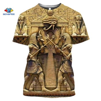 SONSPEE 3D T Shirt Printed Ancient Egyptian Men/women Vintage Streetwear T-shirt Youth Retro Egypt Tshirt Summer Top Clothes - discount item  40% OFF Tops & Tees