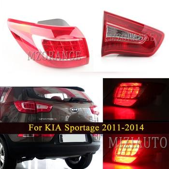 MIZIAUTO Outer Inner Rear Tail light For KIA Sportage 2011-2014 Q5 Style Tail Brake Lamp LED Rear brake Light Warning Assembly for toyota tundra v8 2007 2016 rear 3rd brake cargo led tail light 08 09 black