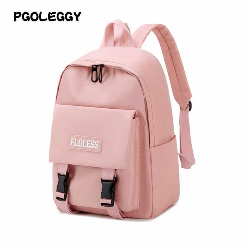 Pgoleggy 2019 Ransel Tahan Air Nilon Ransel Gadis Ransel untuk Laptop Sekolah Tas Travel Tas Ransel untuk Wanita