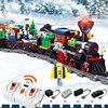 826 шт. рождественской деревни город поезд дерево, Мини фигурки, строительные блоки рождественские вагонный состав кирпичи игрушки подарки