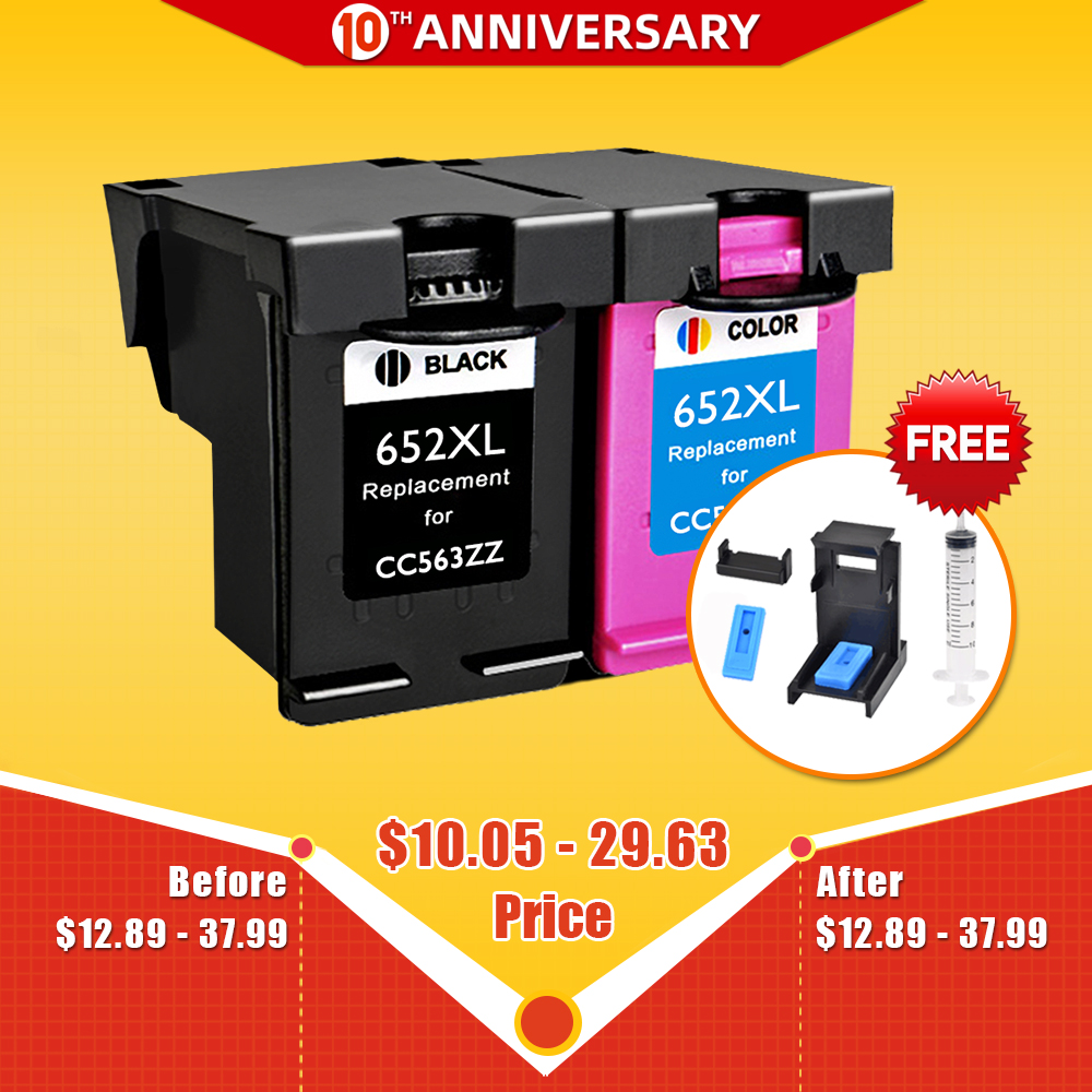 CMYK SUPPLIES 652XL Ink Cartridge Replacement For Hp652 HP 652 XL For HP Deskjet 1115 1118 2135 2136 2138 3635 3636 3835 4535