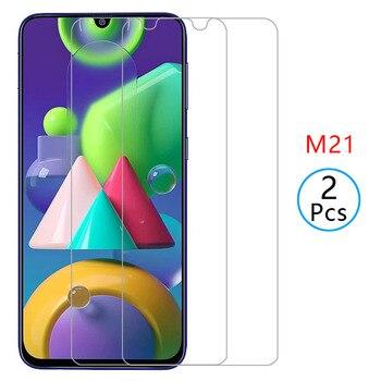 Перейти на Алиэкспресс и купить 2 шт полное покрытие для samsung Galaxy M21 закаленное стекло защитный чехол для Samsung Galax M20 M 21 Samsung M21 tremp glas coque