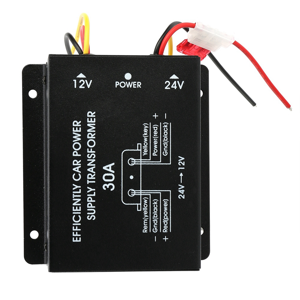 Car Power Supply Step-Down Transformer 24V To 12V Super capacitor 30A Output 240W aluminum housing Inverter