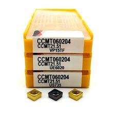 Outil de fraisage à lame CNC, en carbure CCMT060204 VP15TF CCMT060204 UE6020, outils de tour à lame intérieure, CCMT 060204, 10 pièces