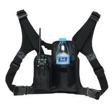 ABBREE harnais de poitrine avant Pack pochette étui gilet plate forme pour Radio bidirectionnelle talkie walkie Baofeng UV 5R UV 82 (essentiels de sauvetage)