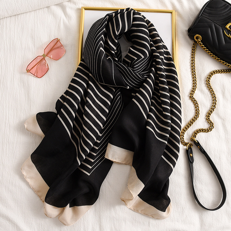 Fashion Winter Scarf For Women Hijab Viscose Warm  Patchwork Scarf Luxury Brand Blanket Wraps Female Scarves And Shawls