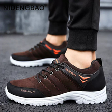 Autumn Winter Outdoor Men Sneakers Non-slip Plush Hiking Shoes Breathable Male Footwear Training Sneakers Trekking Winter Shoes недорого