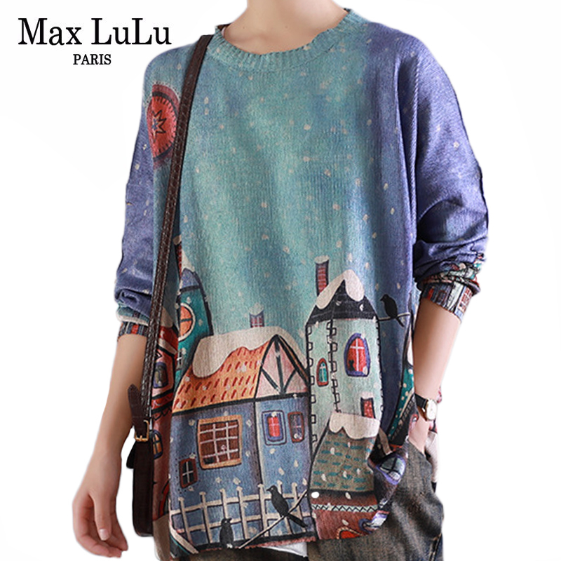 Max LuLu Fashion Korean Style Ladies Knitted Punk Knitwear Womens Cotton Sweaters Printed Winter Jumpers Casual Female Pullovers